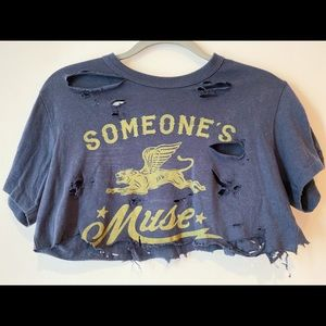 Someone's muse cropped Tee